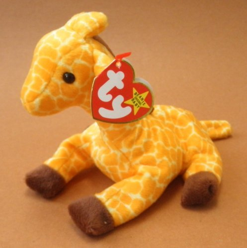 TY Beanie Babies Twigs the Giraffe Plush Toy Stuffed Animal - 1