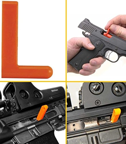 Ultimate Arms Gear .22 Rimfire Rifle Empty Chamber Non-Ejectable Safety Flag Load Indicator Device Polymer Orange Dummy Ammunition Ammo Shell Round with Lanyard String Loop Hole to Attach onto Rife Shotgun Pistol Handgun (Chamber Plug compare prices)