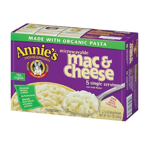 Annie's Homegrown Microwavable Mac & Cheese, White Cheddar Cheese 5 ea (Mac And Cheese Single Servings compare prices)