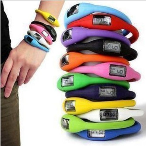BESTIM INC 11 Colors Storm Digital Jelly Silicone Rubber Sports Bracelet Wrist Watch