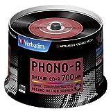 三菱化学メディア Verbatim CD-R 700MB 1回記録用 48倍速 スピンドルケース 50枚パック レコードデザインレーベル SR80PH50V1 ランキングお取り寄せ