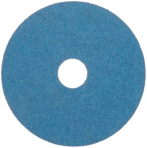"Merit Resin Abrasive Disc, Fiber Backing, Zirconia Alumina, 7/8"" Arbor, 4-1/2"" Diameter, Grit 60 (Box of 25)"
