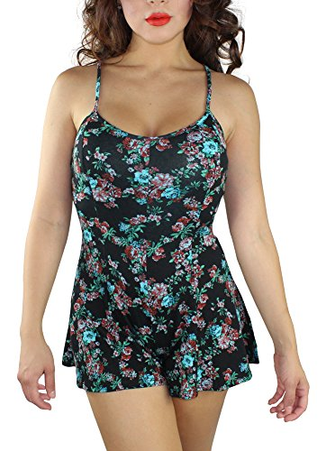 Alfa Global Women'S Crew Neck Rayon Short Romper With Straps S back-953453