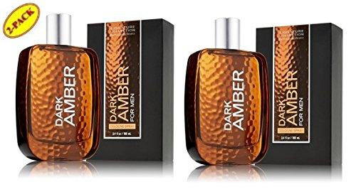 Bath & Body Works Dark Amber for Men 3.4 Oz Cologne Spray Lot of 2 (Dark Amber Spray compare prices)