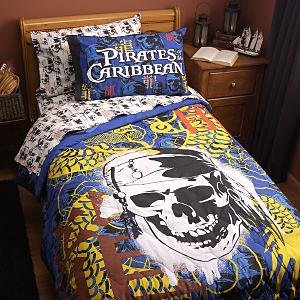 Disney Twin Pirates Of The Caribbean Comforter Sheet Set Boys New Childrens