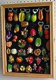 Refrigerator/Souvenir / Sports Magnets Display Case Wall Shadow Box Cabinet, MAG1-OA