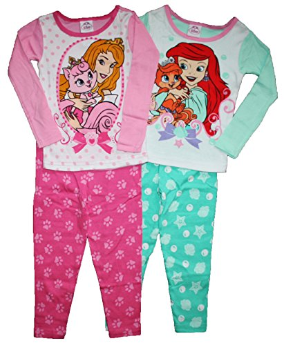 Disney Little Girls Princess Palace Pets 4 Pc Cotton Pajama Set (4T) front-100313