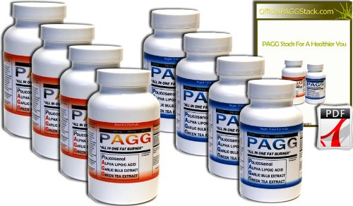 Original PAGG Stack - Free Overnight Shipping - Original Fat Burner - 4 Hour Body By Tim Ferriss (120 Day Supply)
