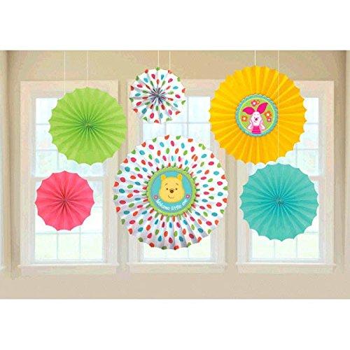 Winnie The Pooh Little Hunny Baby Shower Paper Fan