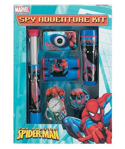 The Amazing Spider-Man 5-Piece Spy Adventure Kit With Camera, Telescope, Binoculars, Compass And Flashlight