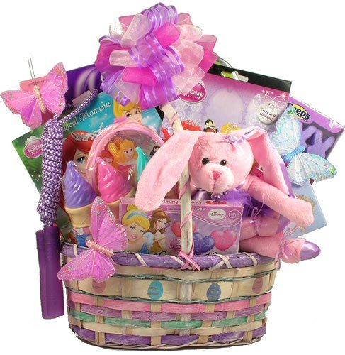 Dont have time to make your own easter baskets why not just buy one easter princess easter basket for girls deluxe negle Choice Image
