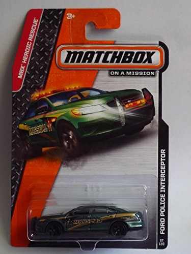 2014 Matchbox MBX Heroic Rescue - Ford Police Interceptor (Marshall)