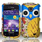 For Samsung Illusion / Galaxy Proclaim i110 (Verizon/Straight Talk) Design Snap-on Protector Hard Cover Case - Owl 2