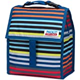 PackIt Freezable Lunch Bag with Zip Closure, Cali Stripes