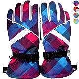 prasie (プレイズ) チェック柄 スノーボード 手袋 防水 保温 スノボー スキーグローブ 調節ベルト レディース メンズ ユニセックス 全4色