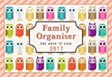 Arpan 2017 Owls family organiser calendar - one week to view- Space For up to 5 People