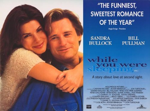 While You Were Sleeping poster del film 30 x 40 in - 77 x 102 cm, Sandra Bullock Bill Pullman Peter Gallagher Jack Warden Peter Boyle Glynis Johns