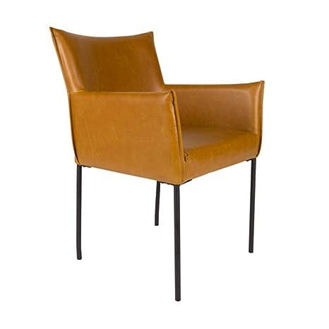 Lot de 2 fauteuils vintage Dion - Couleur - Cognac