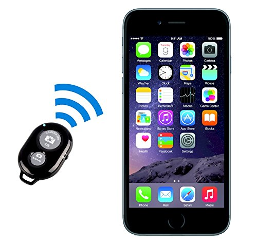 iPhone Remote Control for iPhone 6 Plus 5S 5C 5 4s 4, Universal Bluetooth Remote for Android Nexus Tablet and Camera Shutter Photo Remote for iPad 3, 2, iPad mini, iPod touch 4th generation, Android 4.2.2 OS or newer (Samsung Galaxy S2, S3, S4+, Note 1, Note 2, Note 3+, Tab 2, Note 8, 10.1+, Sony Xperia S, HTC New One and X+ and other Android phone devices – Davoice(TM)