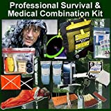 Professional Survival & Medical First Aid Combination Kit