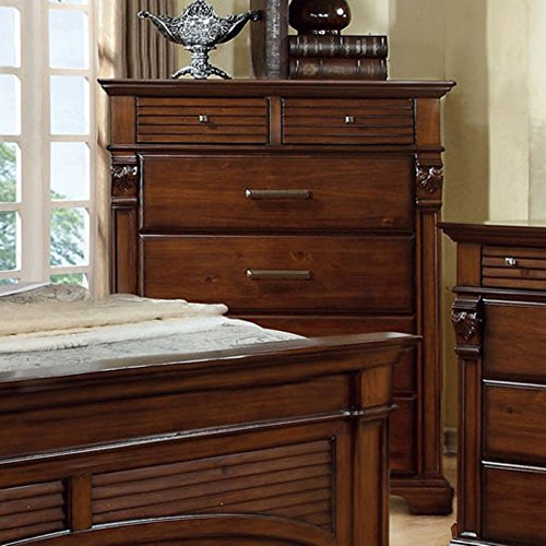 Furniture Of America Bixby Collection 6 Drawer Chest - Antique Walnut, Brown, Wood front-793162