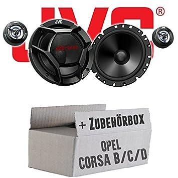 Opel Corsa B/C/D - JVC CS-DR1700C - 16cm 2-Wege Lautsprecher System - Einbauset