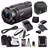 Sony FDR-AX33 4K Ultra HD Handycam Camcorder + NP-FV70 Battery + External Charger + 32GB SDHC Card + Case + Mini HDMI Cable + Card Reader + Card Wallet Saver Bundle