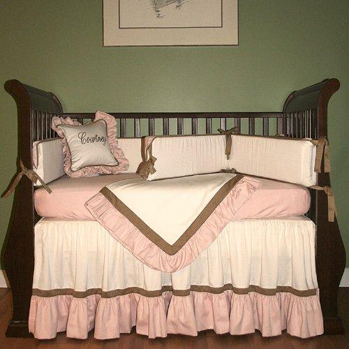 Hoohobbers 4-Piece Crib Bedding, Classic Pink