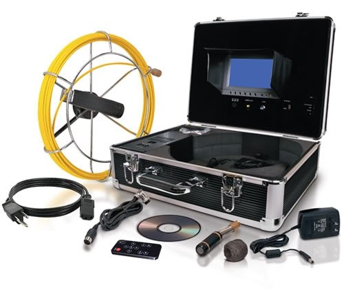 Video Snake SWJ-3188D Pipe and Wall Inspection Color Camera System