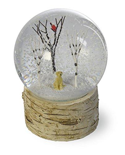 Boston International GAC16488 Fido & Bird in Trees SnowGlobe, Dog/Bird