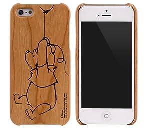 [SoftBank/au iPhone 5専用]ディズニーWoodケース(くまのプーさん)