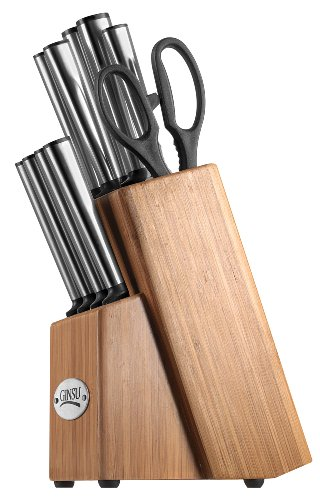 Ginsu Koden Series Commercial Stainless Steel 11-Piece Cutlery Set In Bamboo Storage Block 5203