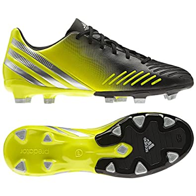 adidas Men's predator Absolion LZ TRX FG Soccer Shoe,Black/Lab Lime/Metallic Silver,6.5 D US