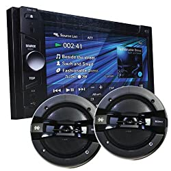 See Sony XAV63 6.1-Inch Touch Screen AV Receiver for Car Truck entertainment with Front Aux Input With a PAIR of Sony 6 1/2