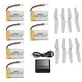 MKT mejorada 3.7V 25C de la batería Lio y 5 en 1 cargador para Syma X5 X5c X5SC X5SW aviones no tripulados (6pcs baterías y el cargador)