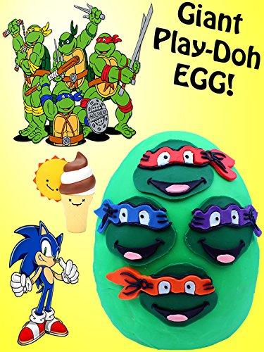 Watch Giant Tmnt Play Doh Surprise Egg Bffs Teenage