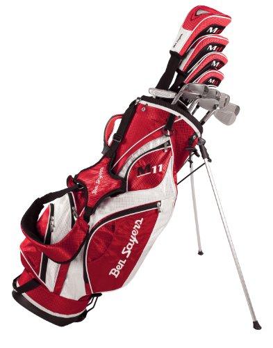 Ben Sayers Men's M11 Golf Package Set Graphite/ Steel - (Red/white, Regular, Complete Set, Left Hand)