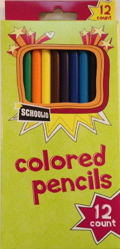 Schoolio Office Max Colored Pencils 12 Count