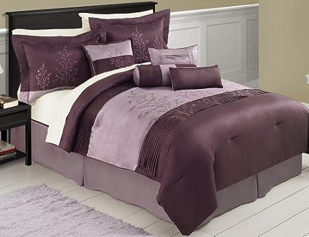 Victoria Classics Mia 8-Piece Purple Comforter Set