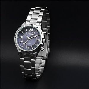 Korean Casual Multifunctional Luminous Sport Watch,Roman Numerals Waterproof Quartz Watch For Women-Blue