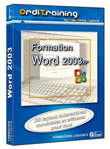 Formation - Word 2003 Xp - Ensemble Complet - 1 Utilisateur - Cd - Win - Français