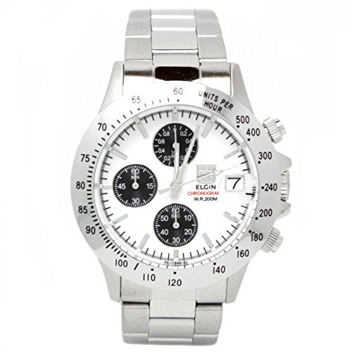 [エルジン]ELGIN 腕時計 クロノグラフ FK1184S-W メンズ