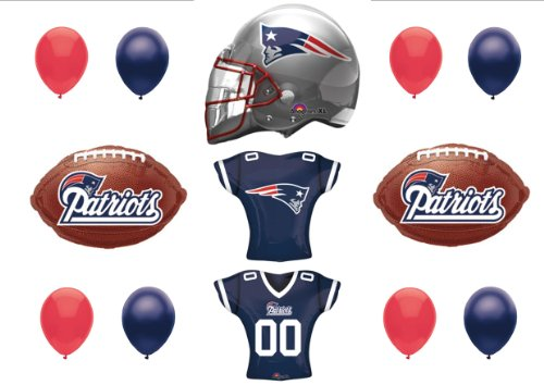 New England Patriots Football SUPER BOWL Party balloons Decorations Supplies (Patriots Party Supplies)