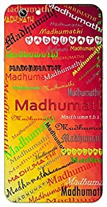 Madhumathi (Delightful moon) Name & Sign Printed All over customize & Personalized!! Protective back cover for your Smart Phone : Moto X-Play