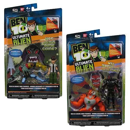 Buy Low Price Bandai Ben 10 Ultimate Alien Comic and Figures Set (B003EI31J2)
