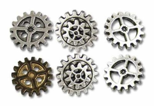 Alchemy Empire: Steampunk Gearwheel - Medium Shirt Buttons