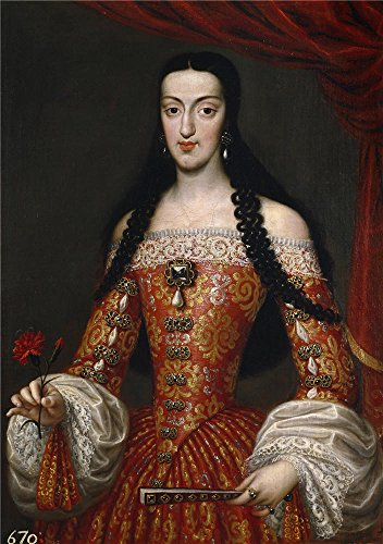 Perfect Effect Canvas ,the Best Price Art Decorative Canvas Prints Of Oil Painting 'Garcia Hidalgo Jose Maria Luisa De Orleans Reina De Espana Ca. 1679 ', 20 X 28 Inch / 51 X 72 Cm Is Best For Laundry Room Decor And Home Gallery Art And Gifts (Fireplace Blower Grate Kit compare prices)