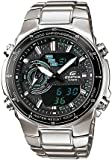 Casio Mens EFA131D-1A2V Silver Stainless-Steel Quartz Watch with Black Dial