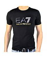 Ea7 Emporio Armani - Tee Shirt Manches Courtes - Homme - Train Graph Tee - Noir Jaune