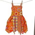 Mixed Pattern Handkerchief Dress
